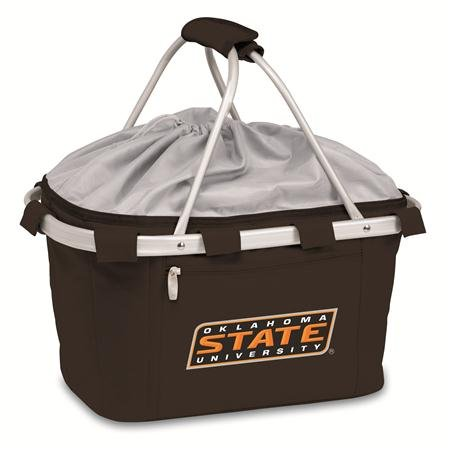 - PICNIC TIME 645-00-175-462-0 Oklahoma State Embroidered Metro Picnic Basket, Black