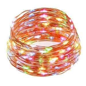Multicolored LED Decroative light Remote control 150 lamp beads USB power supply 15m length Cooper string light indoor and outdoor waterproof and (Lamp Bead)
