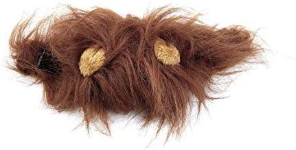Youferin-JP ラブリーペットコスチュームライオンズたてがみ猫用猫ハロウィンクリスマスパーティードレスアップと耳ペットアパレル猫仮装