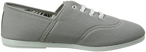 Mujer Cordones de Costa gry Grey 000 Flossy Gris para Zapatos Oxford 6ZT6xYw