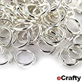 Jump Rings Small 6mm 19 Gauge Silver Plated Metal 100p Jewelry Making Connectors