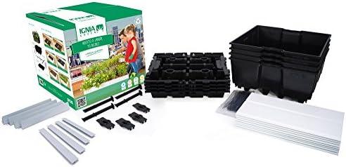 Igniagreen G25402 Kit sin riego Negro 80.0x80.0x20.0 cm: Amazon.es ...