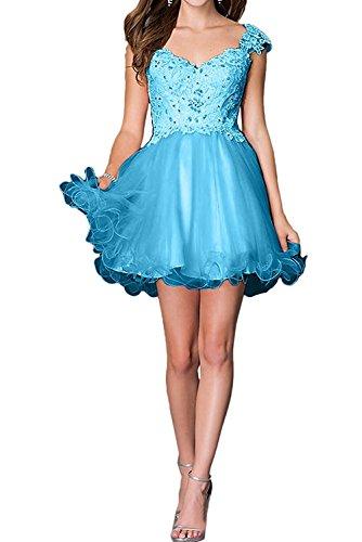Kleider Blau Jugendweihe Spitze Marie Mini Damen Abendkleider Braut Partykleider Dunkel Cocktailkleider La Kurzes 6Awav6q