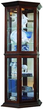 Pulaski Curio, 25 by 11 by 70-Inch, Brown