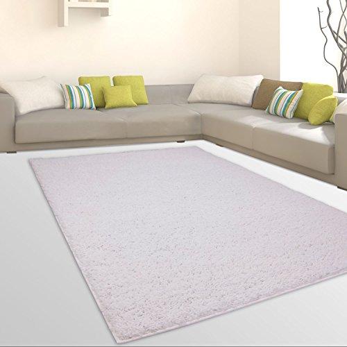 Teppiche Shaggy Hochflor weicher Flokati Wohnzimmer Günstig Angebote Weiß, Größe in cm:120 x 170 cm