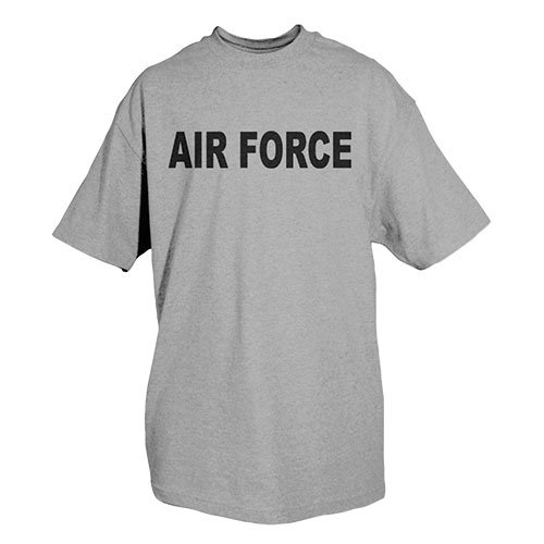 Fox Outdoor Products Air Force Physical Training Imprinted T-Shirt, Heather Grey, Medium