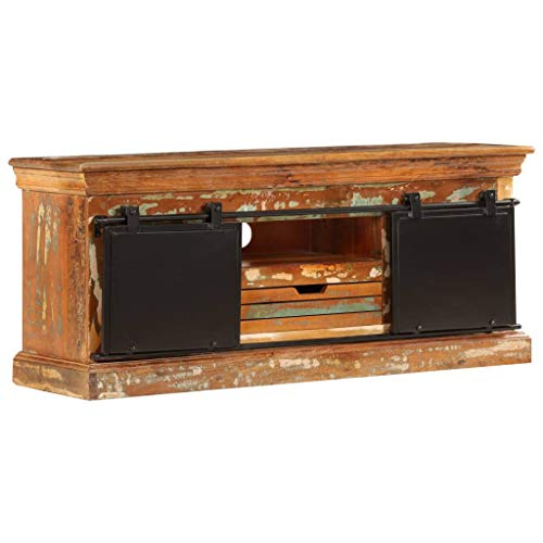 vidaXL TV Cabinet Solid Reclaimed Wood Sideboard Entertainment HiFi Center
