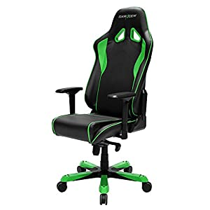 DXRacer Sentinel Series Big and Tall Chair DOH/SJ08/NE Racing Bucket Seat Office Chair Gaming Chair Ergonomic Computer Chair eSports Desk Chair Executive Chair Furniture With Pillows (Green)