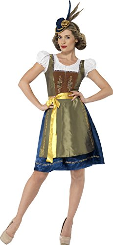 Smiffy's Women's Traditional Deluxe Bavarian Costume, wit...