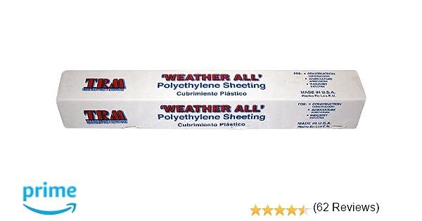TRM Manufacturing 610B Weatherall 6 Mil Black Poly Plastic Sheet ...