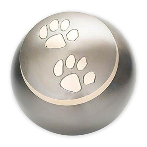 Engravable Urns (Beautiful Life Urns Pawsitively Cherished Pet Urn - Unique Cremation Urns for Pets, Small,)