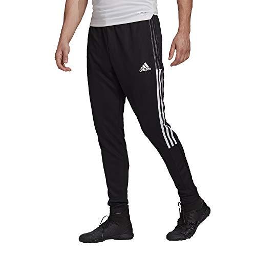 adidas mens Tiro 21 Track Pants Black/White Large