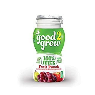 good2grow 100% Fruit Punch Juice Refill, 24-pack of 6-Ounce BPA-Free Juice Bottles, Non-GMO with No Added Sugar, for use with our Spill-Proof Toppers as an Excellent Daily Source of Vitamin C