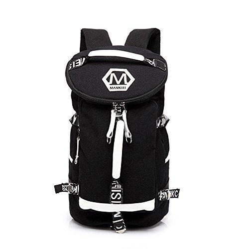 Los Hombres De Personalidad Mochila, Bolsa De Viaje De Ocio, Ordenador Shoulder Bag, Travel Bag, Bolsa De Equipaje, Juventud,Color Azul Y Blanco Black and white