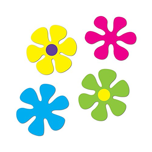 Beistle Party Decorations Retro Flower Cutouts 12