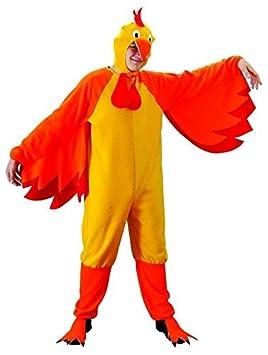Foxxeo Traje de Pollo Adulto gallina Amarilla de Pollo para los ...