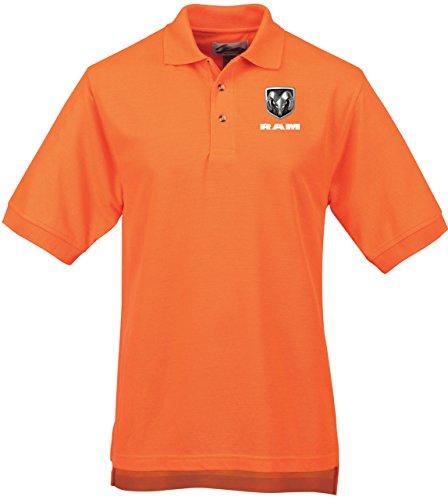 Logo Print Polo (Mens DODGE RAM LOGO Safeguard Polo (pocket print), 5XL-Tall Osha Orange)