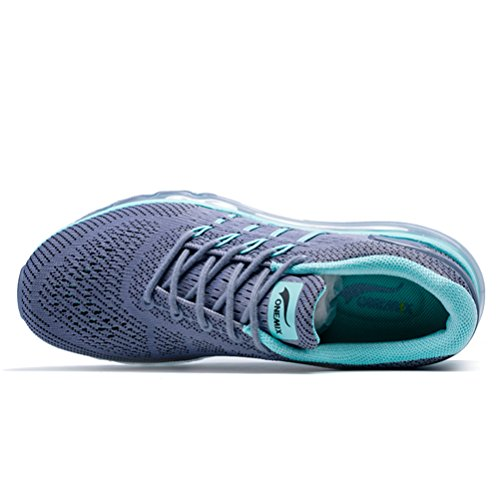 Trainer Outdoor Green Running Women's Sneakers YiDiar Athletic Air Trail Sports Cushion Road Shoes Gray O0nw8xnX