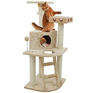 Furhaven Pet Cat Tree | Tiger Tough Cat Tree House Perch Entertainment Playground Condo Furniture for Cats & Kittens…