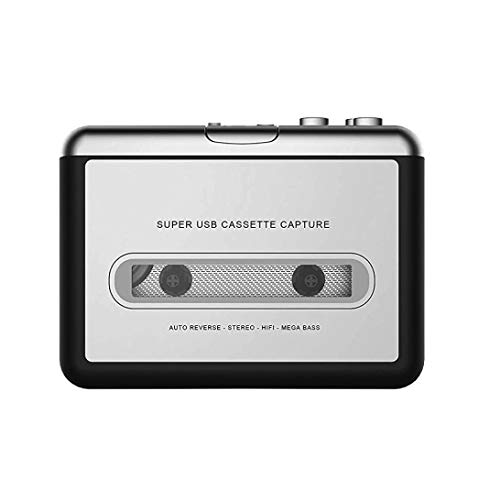 Belloc Cassette Player - Portable Tape Player Captures MP3 Audio Music via USB - Compatible with Laptops and Personal Computers - Convert Walkman Tape Cassettes to iPod Format