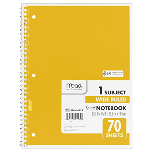 043100055105 - Mead Spiral 1-Subject Wide-Ruled Notebook, Assorted Colors (5510) carousel main 5