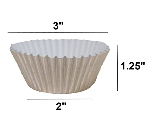 Premium Disposables 400 Silver Foil Cupcake Paper Baking Cups Metallic Muffin Liners Standard Size Cupcake Bakeware Supplies. by Premium Disposables (Image #5)