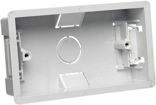 Caja de conexión doble para pared con 2 interruptores, color blanco: Amazon.es: Bricolaje y herramientas