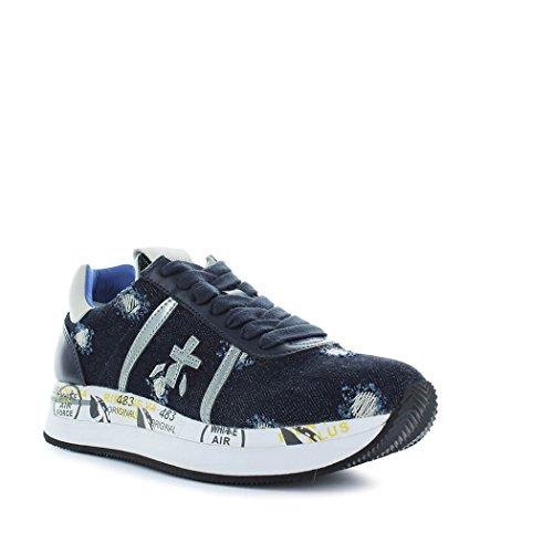 PREMIATA Damenschuhe Sneaker Conny 2977 Denim Frühling-Sommer 2018