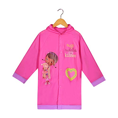 Disney Doc McStuffins Girls Pink Rain Slicker Raincoat (L(6/7))