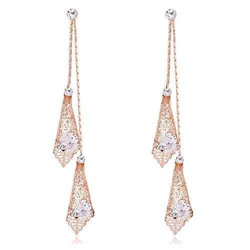 Dangle Earring Drop Earrings Long Earrings Rose Gold Wedding Earrings for Women