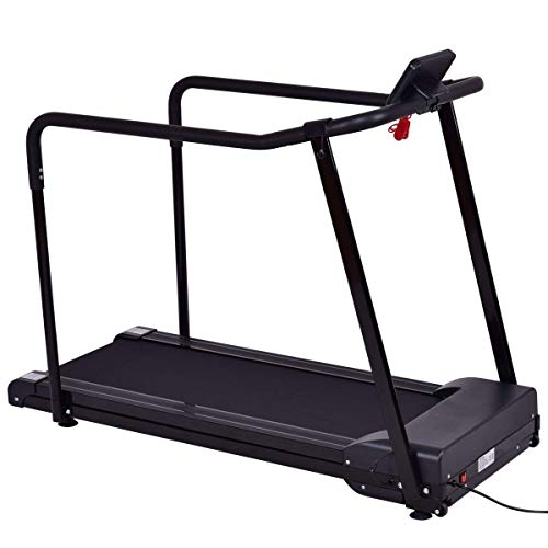 GYMAX Walking Jogging Fitness Exercise Treadmill Cardio Electric Running Machine Treadmill for Senior Elders W Extra-Long Handles