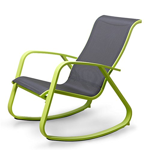 SjYsXm-recliners Rocking Chair Adult Rocker Lounge Chair Lazy Simple Casual Easy Chair Balcony Garden Rocking Chair Lunch Break Chair with High Backrest (Color : Green) ()