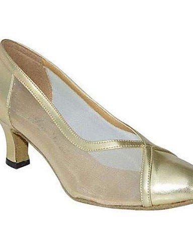 aiguille Argent Gold Talon Chaussures personnalisable Or ShangYi Moderne danse de Non Similicuir 8FxA7S