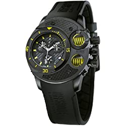 Offshore Men's OFF003C Commando Black PVD Chronograph Water Resistant Rubber Watch