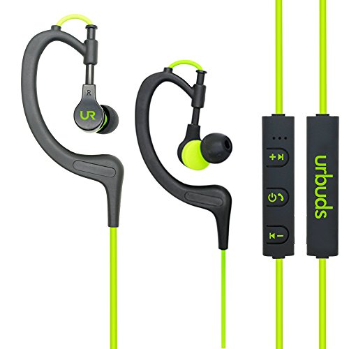 urbuds bluetooth headphones 4 1 stereo earphones wireless sweatproof sports earbuds with built. Black Bedroom Furniture Sets. Home Design Ideas