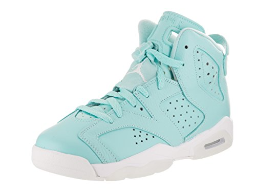 Jordan Big Kids Girls' Air 6 Retro GS still blue white-white Size 5.5 US by Jordan