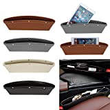 SaveStore Car Organizer PU Leather Car Seat Organizer Box Caddy Slit Gap Pocket Storage Glove Box lot Box Leather for Books/Phones/Cards