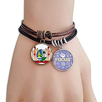 master DIY Suriname South Ameica National Emblem Bracelet Rope Wristband Force Handcrafted Jewelry Estimated Price -