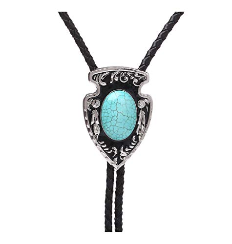 Bolo Tie Turquoise-Western Cowboy Native American Novetly Neckties