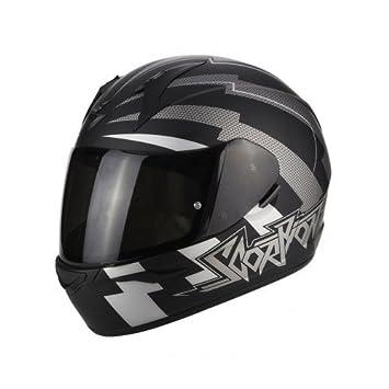 4959f44b Scorpion EXO 390 Patriot Matt Motorcycle Helmet, Black/White, Size XS