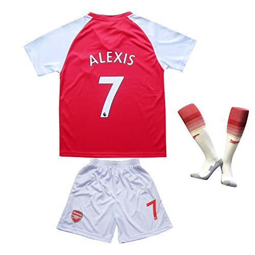 Arsenal Youth Home Jersey (2016/2017 Arsenal Home #7 ALEXIS Sánchez Football Futbol Soccer Kids Jersey Shorts Socks Set Youth Sizes (6-7 YEARS))