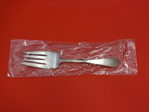 (Pointed Antique Reed & Barton Sterling Silver Cold Meat Fork 9 1/8
