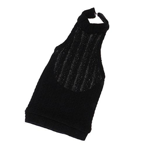MonkeyJack Fashion Knit Turtleneck Backless Sweater Vest for 1/3 BJD SD YOSD Dolls 70cm Male Uncle Dolls Accessories Black