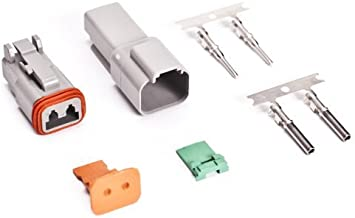 AMPhenol AT 3 Color 2-Pin Genuine Connector Kit 14-16AWG Stamped Contacts USA