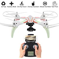 Thread_us WLtoys Q696-E 2.4G 6-Axis Gyro RC Quadcopter Set High-Temperature RTF Drone WiFi 720P PTZ-Stabilized HD Aerial-Aerial Camera (2 million Pixels)