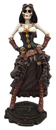 Atlantic Collectibles Steampunk Skeleton Costume Lady Figurine 7.5