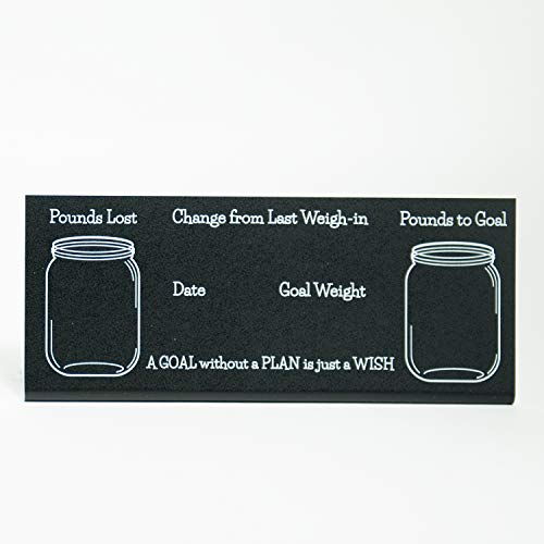 Custom Product Solutions Weight Loss Progress Tracker Jars Chalkboard Pedestal Sign