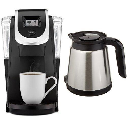 Keurig K250 Single Serve, Programmable K-Cup Pod Coffee Maker, Black & Keurig 2.0 Thermal Carafe by