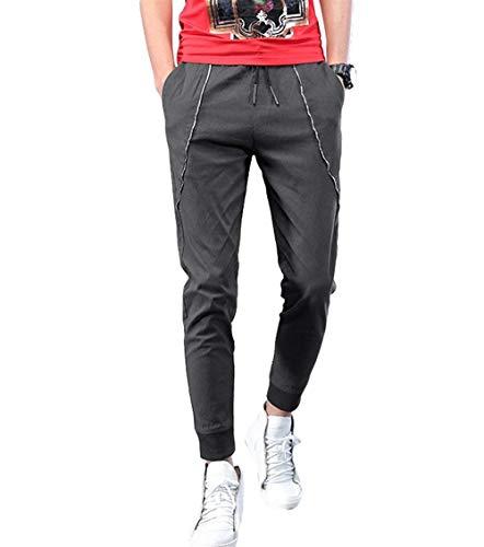 Adelina Pantaloni Chino Elasticizzati Da Uomo Basico Leggero Abbigliamento Jogger Dritti Casual Grau