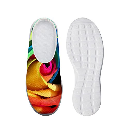 Bigcardesigns Fashion Multicolor Rose Daily Slip-ons Shoes Breathable Sandals Multicolor3 odd5FW